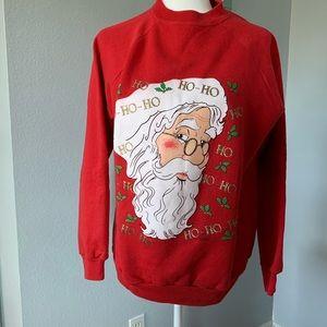 Ugly Christmas Sweater Sweatshirt Santa Size Med